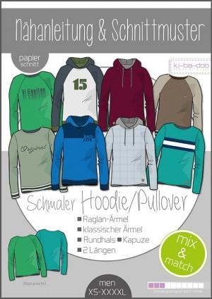 ♥Herren Mix&Match Sweater/Hoodie♥ Papier Schnittmuster DIN A0 MEN XS-XXXXL