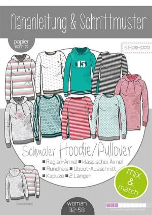 ♥Damen Mix&Match Sweater/Hoodie♥ PAPIER-SCHNITTMUSTER Din A0 WOMAN 32-58