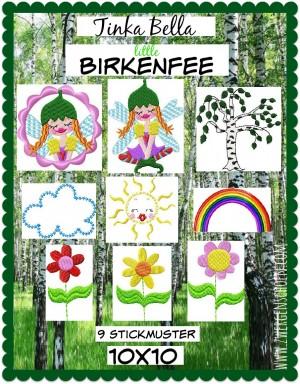 ♥LITTLE Tinka Bella BIRKENFEE♥ Stickmuster BIRKE Feen ELFEN 10x10cm