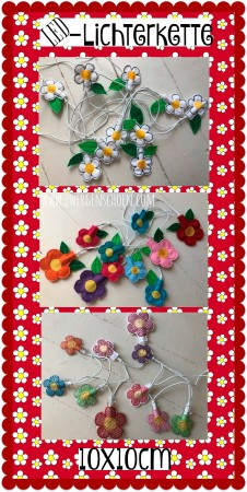 ♥Miss Daisy LED-Fairy-LIGHTS♥ Embroidery-File ITH Flowers 10x10cm