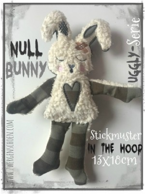 ♥NULL Bunny♥ Stickmuster ITH 13x18cm UGGLY SERIE