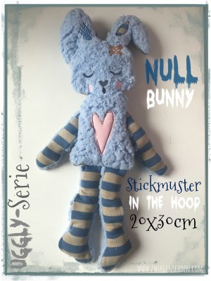♥NULL Bunny♥ Stickmuster ITH 20x30cm UGGLY SERIE