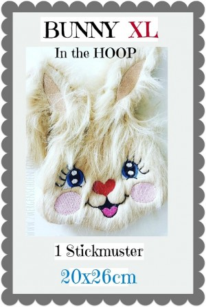 ♥BUNNY XL♥ Embroidery FILE 20x26cm IN THE HOOP