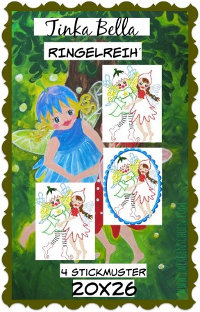 ♥FAIRYDANCE♥ Embroidery FILE 20x26cm