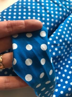 ♥POLKA DOtS♥ 0.5m JERSEY blue MARINE