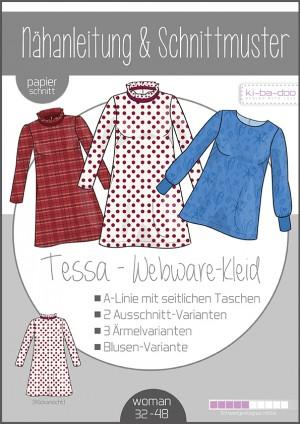 ♥A-Linien Kleid/ TunikaTessa♥ PAPIER-SCHNITTMUSTER Din A0 WOMAN 32-48
