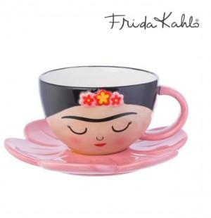 ♥FRIDA KAHLO♥ Tassen-Set LICENCED Mug CUP Flower SAUCER