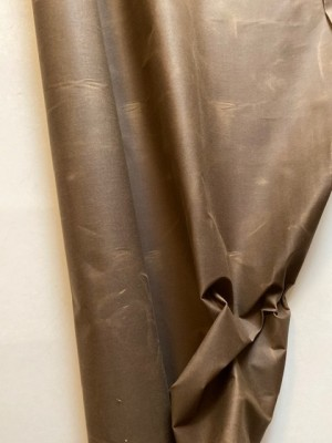 ♥OILSKIN♥ 0.5m gewachste BAUMWOLLE braun