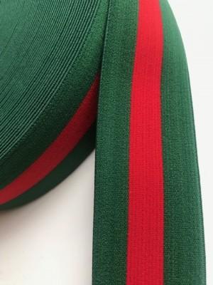 ♥GUMMIBAND♥ Hosenbund GRÜN/ROT Streifen 4cm