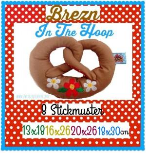 ♥BREZn ITH♥ Stickmuster BREZEL In The HOOP 13x18 16x26 20x26 18x30cm