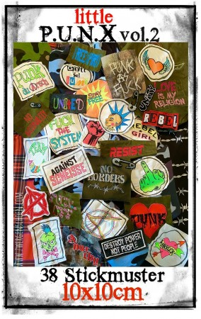 ♥little PUNX vol.2♥ Stickmuster PUNKS Rebellion 10x10cm