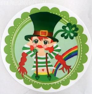 ♥KERRY of IRELAND♥ Aufkleber LEPRECHAUN 20Stück 5cm