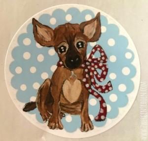 ♥BLESS♥ Aufkleber STICKER 20Stück blau PUPPY Hund