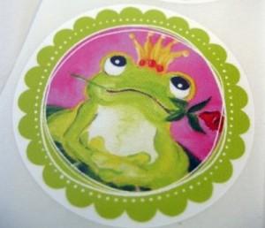 ♥FROSCHPRINZ ARTHUR♥ Froschkönig AUFKLEBER Sticker 20Stück