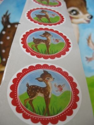 ♥sweet holy world BAMBI♥ STICKER Sticki 20stk