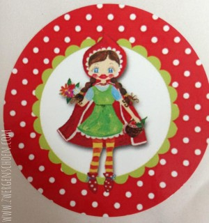 litte RED riding HOOD STICKER