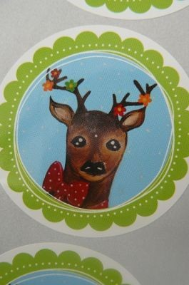 OH MY DEER sticker FLOWER bambi