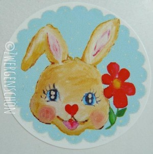 ♥HAPPY BUNNY♥ skyBLUE Sticker 20pcs