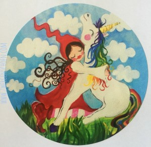 ♥MILLI in LOVE with UNICORN♥ Aufkleber 20Stk. 6cm!!!!