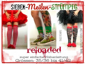 ♥7-MEILEN-STRÜMPFE reloaded♥ 3in1 eBOOK Nähanleitung PDF