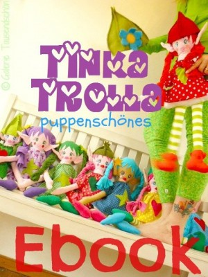 ♥TINKA TROLLA♥ puppenschönes EBOOK Set STICKMASCHINE