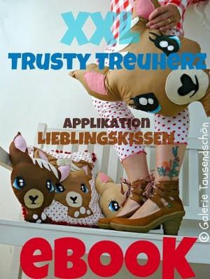 ♥TRUSTY TreuHERZ♥ eBOOK Nähanleitung XXL-Kissen