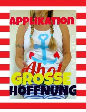 ♥GROSSE HOFFNUNG♥ Applikationsmuster 35cm HÖHE 1€-SPARbie