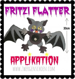 ♥FRITZI FLATTER♥ Applikation eBOOK OHNE (!) Stickmaschine