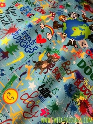 ♥DOGs on GRAFFITISCHoeN♥ 0.59m NYLON blue