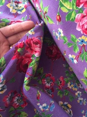 ♥VELVET♥ Roses PRICE PER 0.5METER purple FOLK