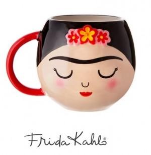 ♥FRIDA KAHLO♥ Tasse MUG Gesicht FORMTASSE Keramik 0.4L