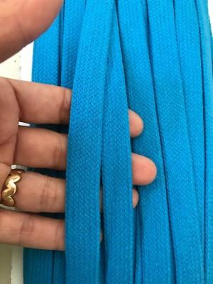 ♥FLACHKORDEL♥ Kordel TÜRKIS Blau 2cm BREIT