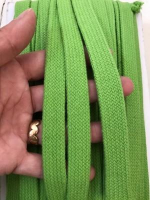 ♥FLACHKORDEL♥ Kordel GRÜN Lime 2cm BREIT