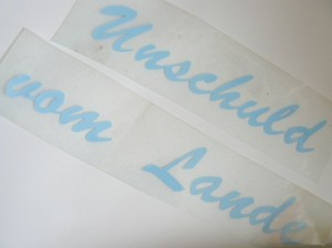 ♥UNSCHULD vom LANDE♥ GERMAN iron IT blue