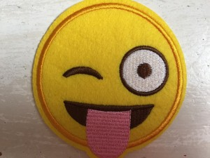 ♥EMOIJ♥ Smiley CRAZY Aufnäher SPECIAL
