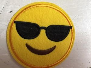 ♥EMOIJ♥ Smiley SUNNY Aufnäher SPECIAL