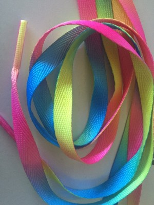 ♥SHOELACE♥ 1 PAIR Rainbow 115cm LENGTH