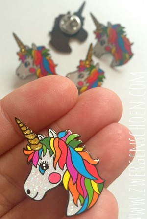 ♥BUTTON/PIN/ANSTECKER♥ Einhorn UNICORN Glitzer