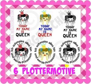 ♥PRINZESSCHEN♥ 6 PLOTTERMOTIVE Bunt&Silhouette GEWERBL. NUTZUNG