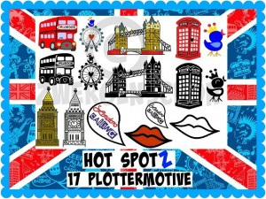 ♥HOT SPOTz♥ LONDON Plotterfiles SVG, JPG, DFX
