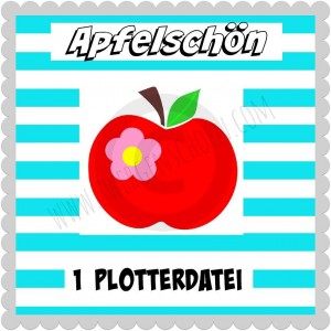 ♥APFELSCHoeN♥ Plottfile APPLE SVG, DFX, JPG