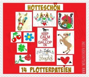 ♥HOTTEschön♥ Plotterdatei PLOTTERMOTIV Pferde PONYHOF
