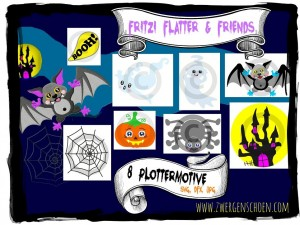 ♥FRITZI FLATTER&Friends♥ PLOTTFILE Halloween SPECIAL Price JPG, SVG, DFX
