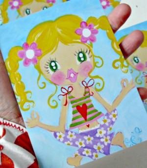 ♥YOYO YOGASCHoeN♥Postcard-SET 3Stk. SWEET OM