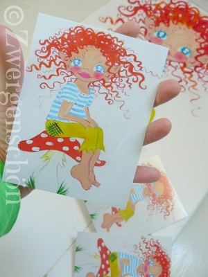 ♥HULLA TRoeLLA♥Icland FAIRY GNOME Postcard-SET of 3