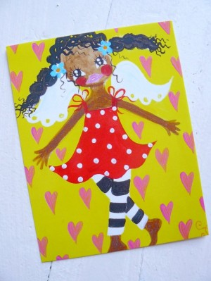 ♥HOLLY HIMMELSCHoeN♥ GUARDIAN ANGEL sunny Postcard
