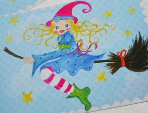♥WITCHy♥ POSTCARD-Set of 3 SPECIAL EFFECT