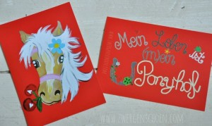 ♥MON CHERI♥ POSTCARD SET of 3 HORSE PONY LOVE