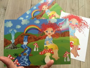 ♥HULLA TRoeLLA♥ ICELAND Postcard SET XL Fairy GIRL 3 PCS