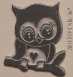 ♥RUBBERSTAMP♥ GUM for STAMP Bonnie OWL 2.5x3cm DIY